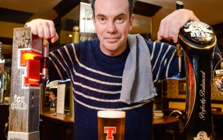 Picture Nick Ponty 22/1/16 Still Game star Gavin Mitchell promotes Tennents pub quiz.